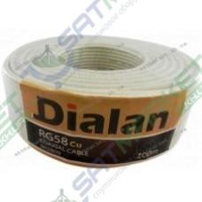 Dialan RG58U CU white (0,8 мм, 50 Ом, Cuprum ) 1м