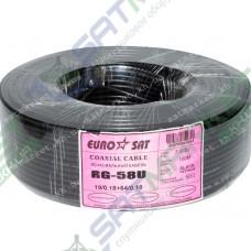 EUROSAT RG58U black (0,8 мм, 50 Ом, Cuprum ) 1м (7-0082)