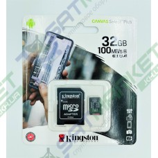 Карта пам'яті micro SDCS2 KINGSTON 32GB Canvas Select Plus R100MB/s + SD Class 10