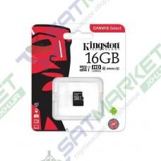 Карта памяти microSDHC KINGSTON 16Gb Class 10