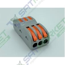 Клеммы быстрого монтажа проходная PCT-2133 3-pin