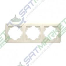 Рамка 3-я горизонтальная крем ViKO Carmen 90572103
