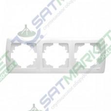 Рамка 3-я горизонтальная белая ViKO Carmen 90571103