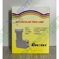 LNB2x Circ (EUROSKY UTP-5CP CIRCULAR TWIN)