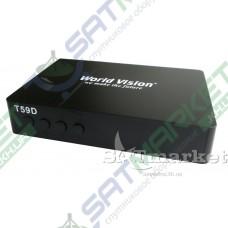 World Vision T59D цифровой эфирный DVB-T2 ресивер