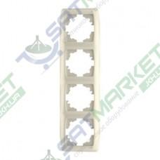 Рамка 4-я вертикальная крем ViKO Carmen 90572004