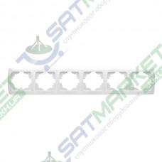 Рамка 6-я горизонтальная белая ViKO Carmen 90571106