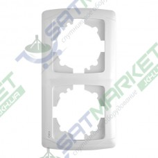 Рамка 2-я вертикальная белая ViKO Carmen 90571002