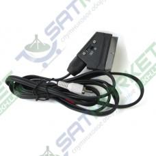 Шнур scart-3RCA с переключетелем