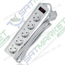 Удлинитель DEFENDER 5 m, 5 socket, ES, White