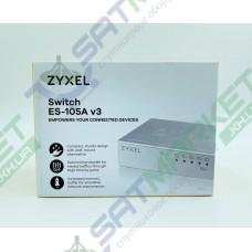 Сетевой SWITCH ZYXEL ES-105A v3 (5-PORT 10/100Mbps, метал)