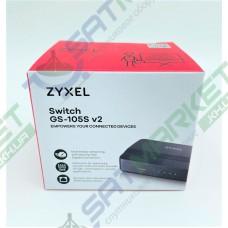 Мереживий SWITCH ZYXEL GS-105S v2 (5-PORT Gigabit Ethernet Switch, пластик)