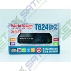 World Vision T624 D2 цифровий ефірний DVB-T2 ресивер