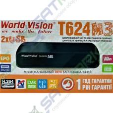 World Vision T624 M3 цифровий ефірний DVB-T2 ресівер