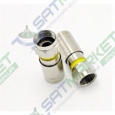 F-разъем для кабеля RG-6, компрессионный, медь (1 шт.)(1-0640)