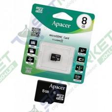 Карта памяти microSDHC Apacer 8Gb Class 4