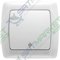 Выключатель 1-кл. проходной белый ViKO Carmen 90561004