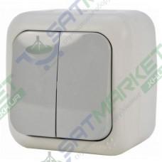 Выключатель 2-кл серый ViKO Palmiye 90555502