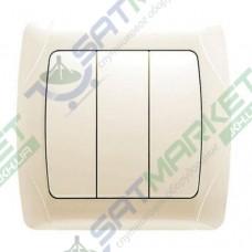 Выключатель 3-кл. крем ViKO Carmen 90562068