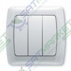 Выключатель 3-кл. белый ViKO Carmen 90561068